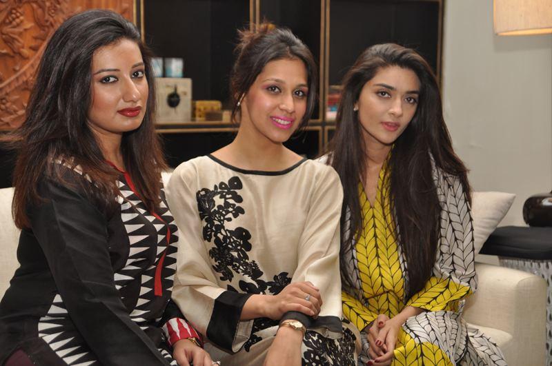 Amara Javed, Momina Sibtain and Sahar Zafar