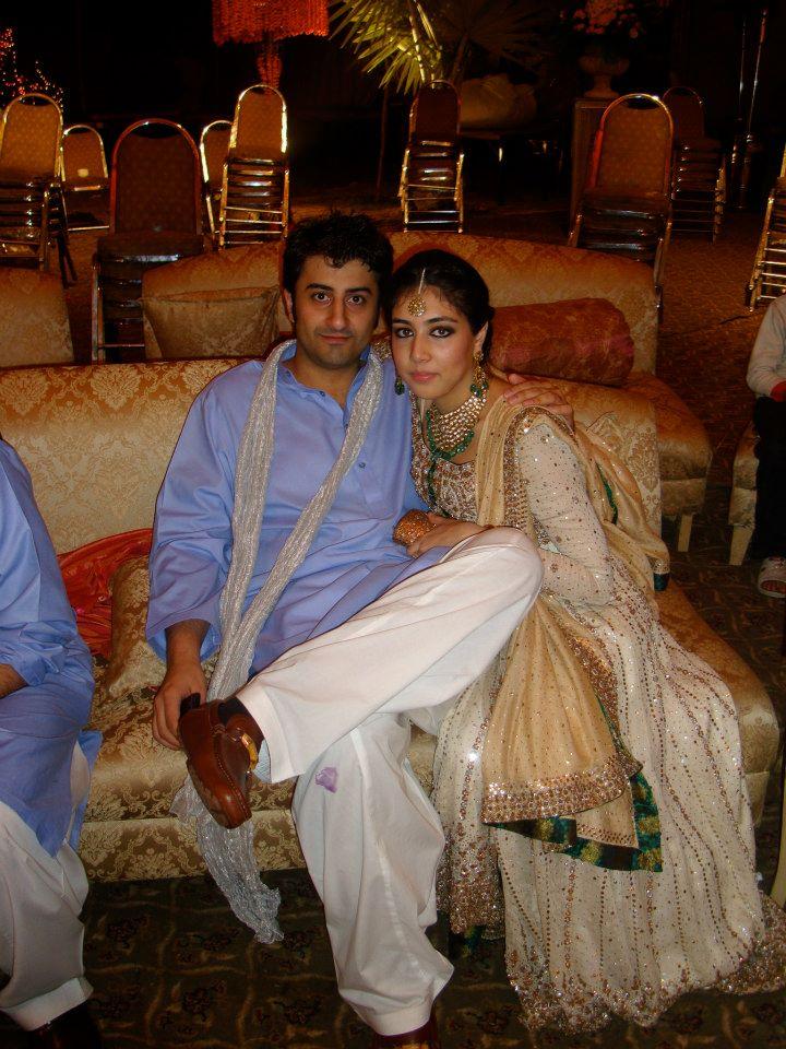 Newly weds Raza Ellahi Shaikh and Mahnoor Farooq