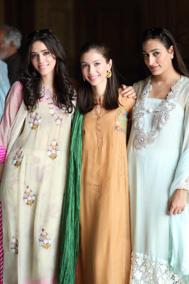 Deena and Sasha Rahman with Zahra Khokar