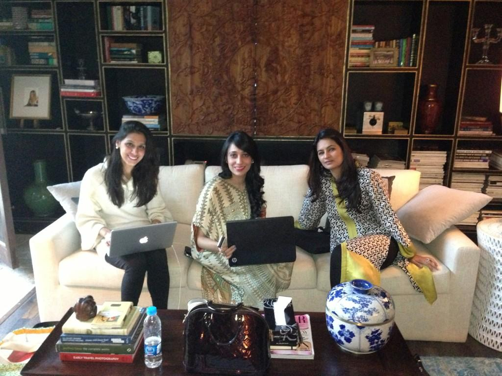Momina, Anum Javed and Sadaf ( a.k.a Mrs Fawad Khan)