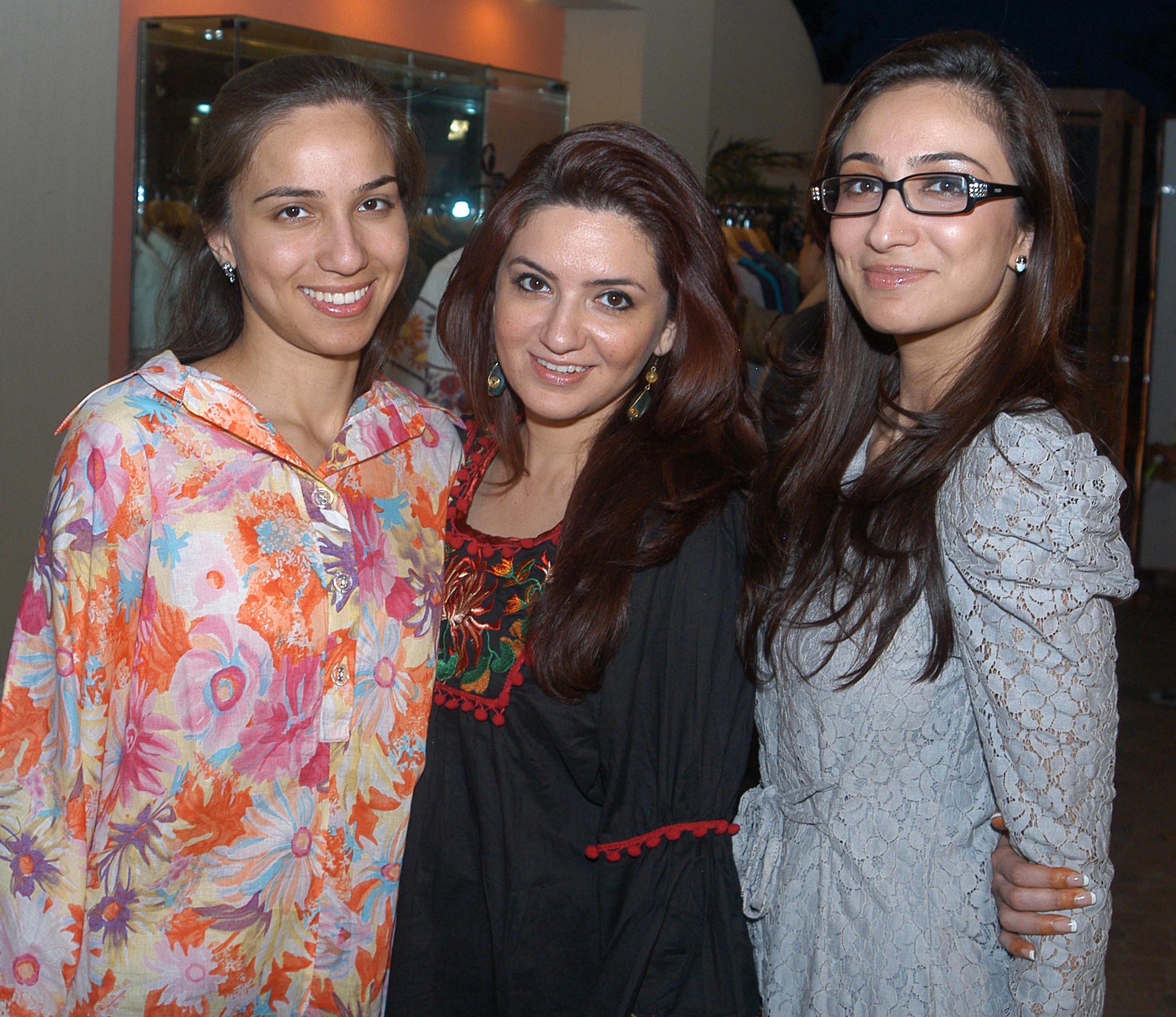 Alizeh Ashraf, Natasha Qizilbash and Anoushay Ashraf