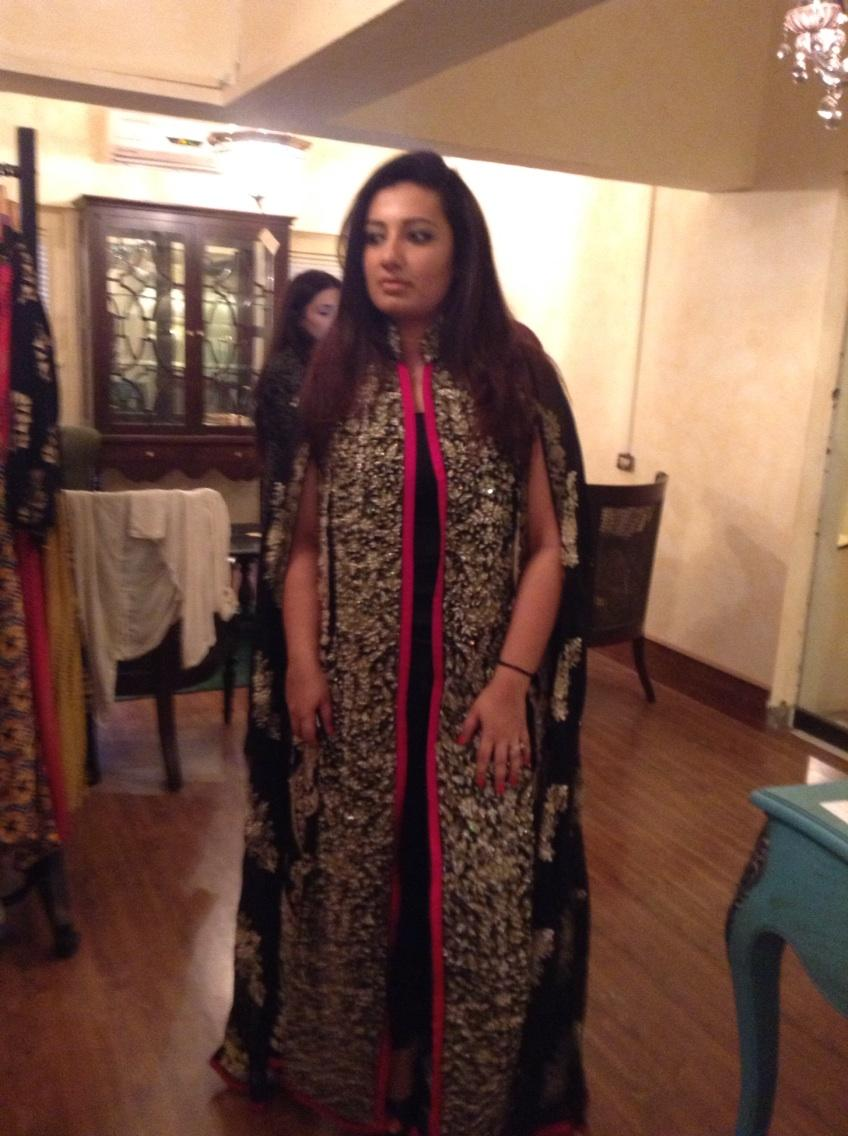 Amara wearing Ayesha F Hashwani
