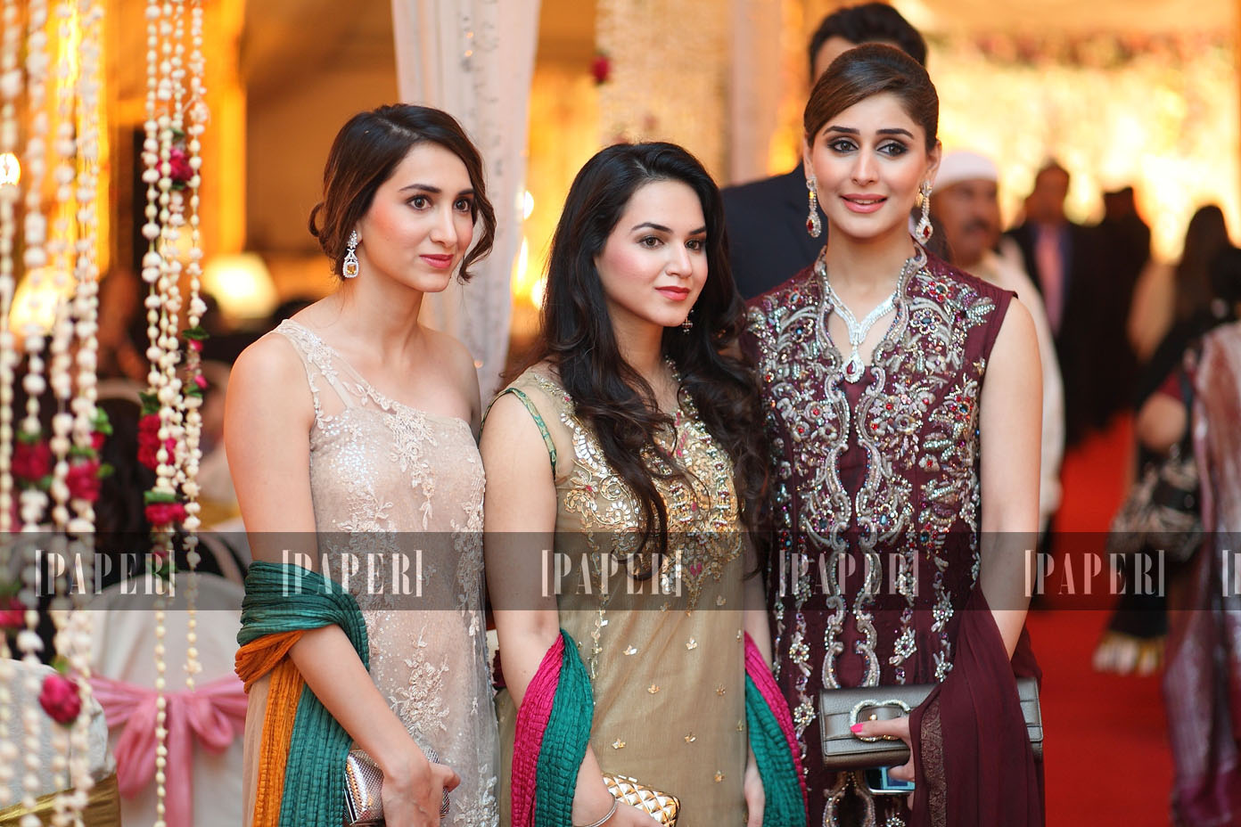 Ayesha and Anum Yousaf with Sara Walid Mushtaq