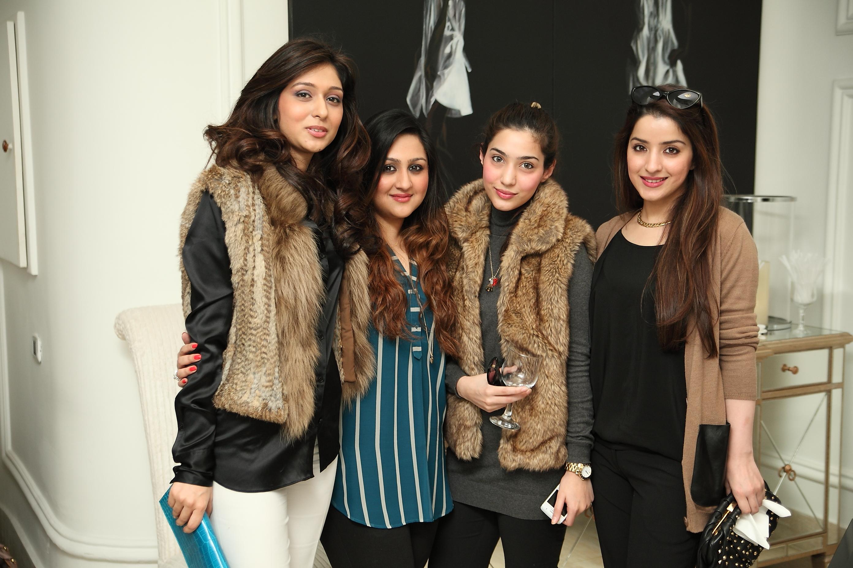 Areeba Magsi, Shazreh Khalid, Rabia Khan and Tina Khan
