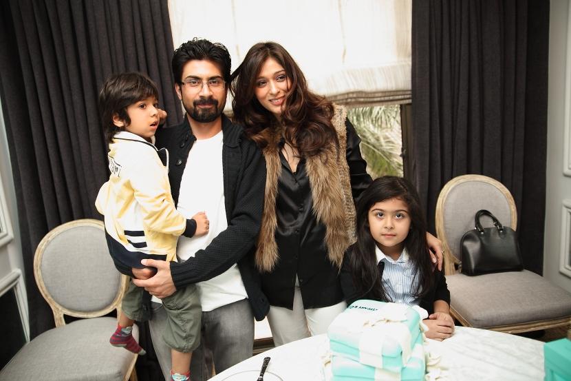 Saif and Areeba Magsi with their adorable kids