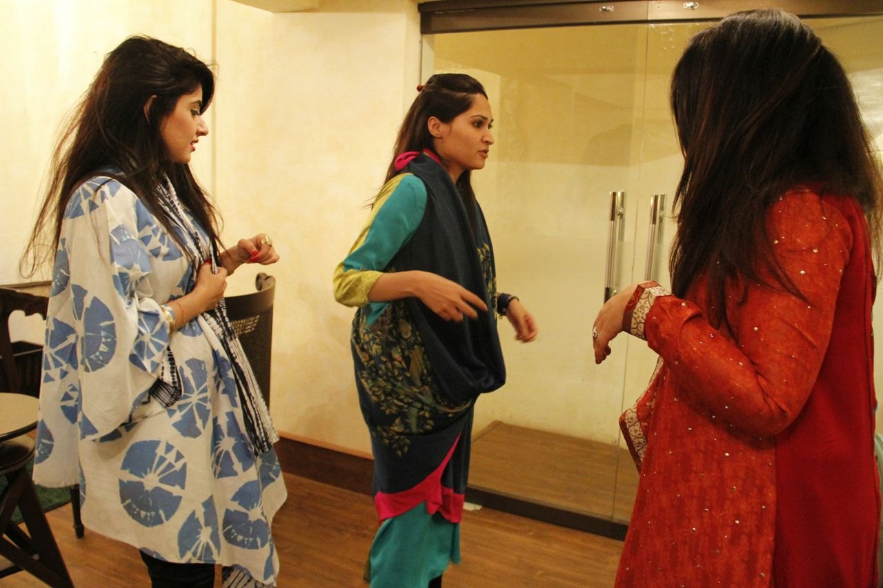 Alyzeh Rahim, Sania Maskatiya and Amara Javed