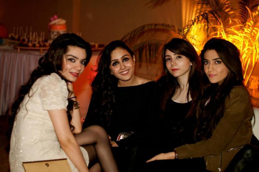 Mehryn Zafar, Muneeze Khalid, Aleena Azam and Sahar Zafar