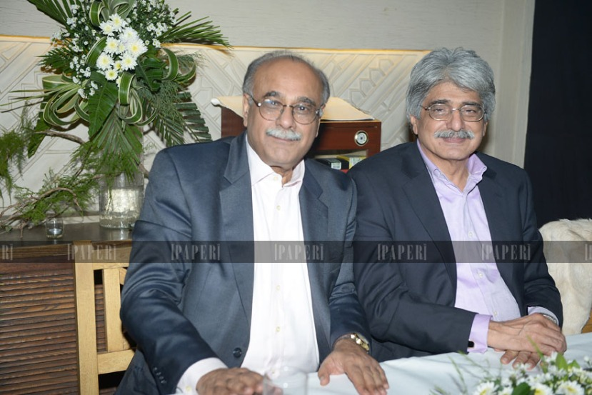 Najam Sethi and Salman Shah