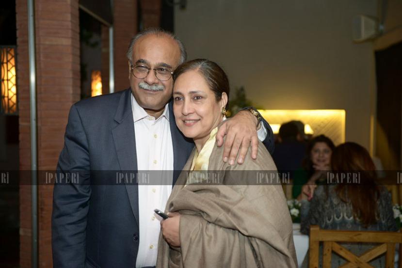 Najam Sethi and Jugnu Mohsin