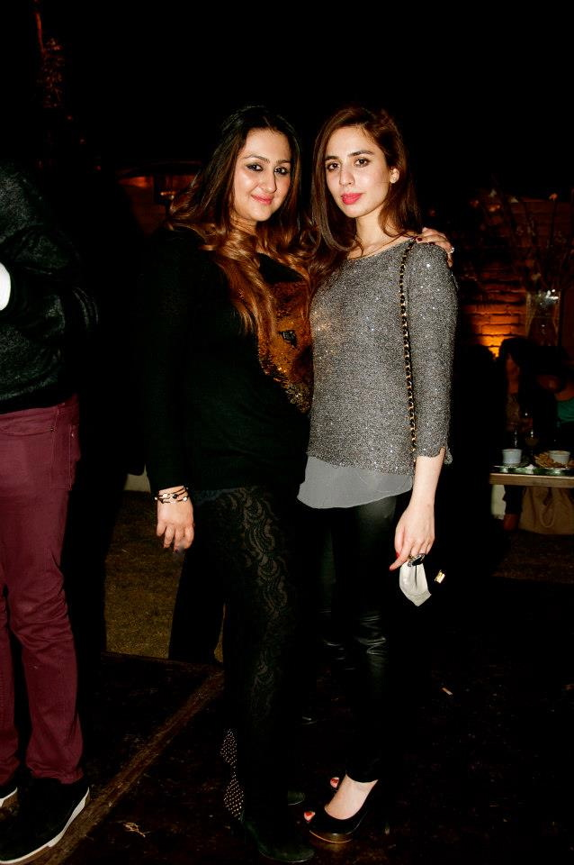 The birthday girl with Izza Sami