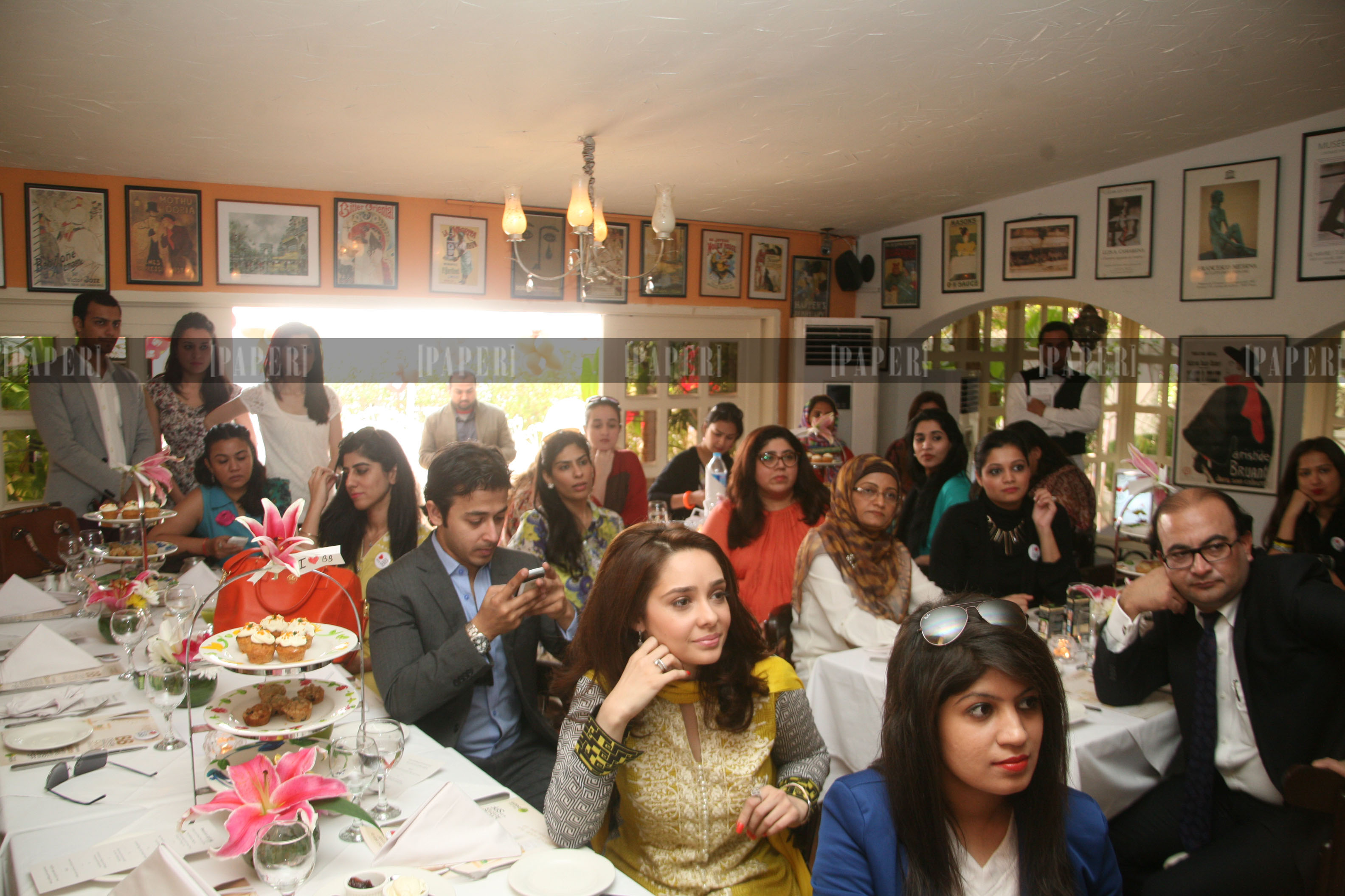 The attendees incuding Garnier Spokesperson Juggun Kazim at the event