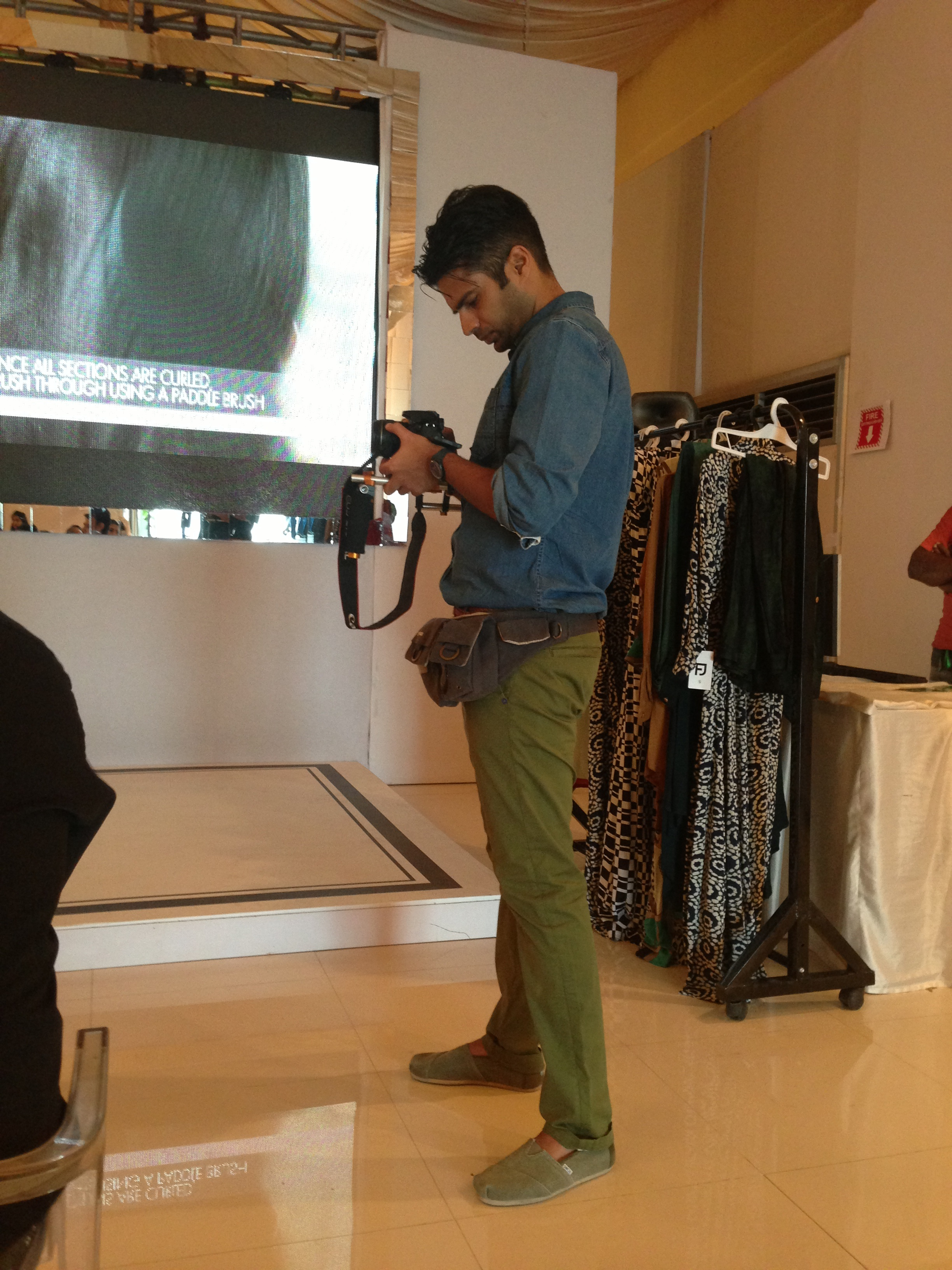 Adnan Malik busy making videos. Can't wait to see the final cut!