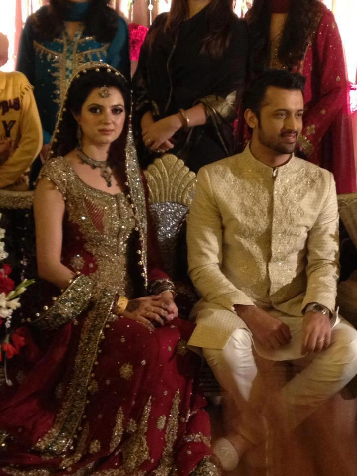 Red Bottoms Flair: Just in! Atif Aslam's Wedding