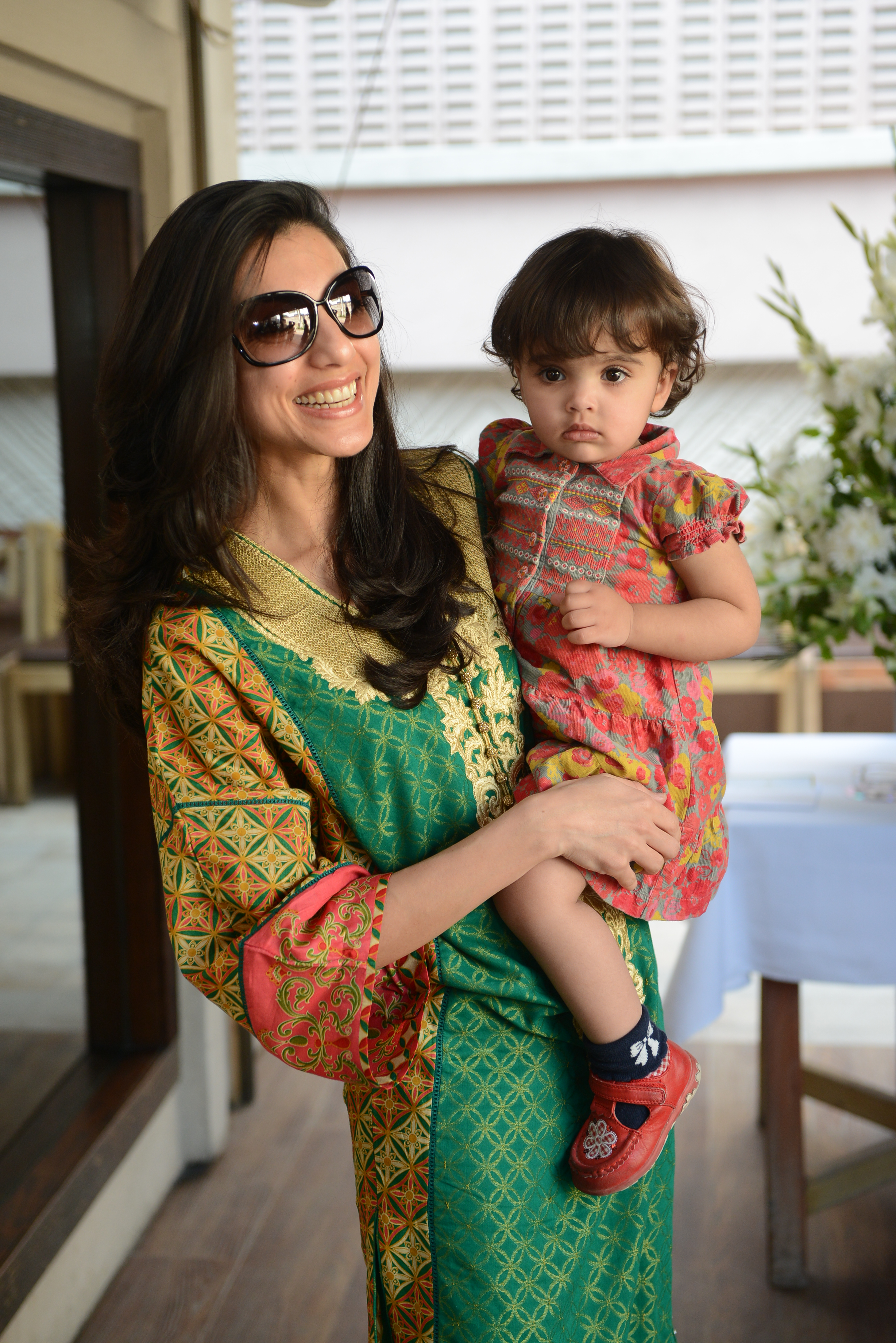Nadia Malik with her daughter