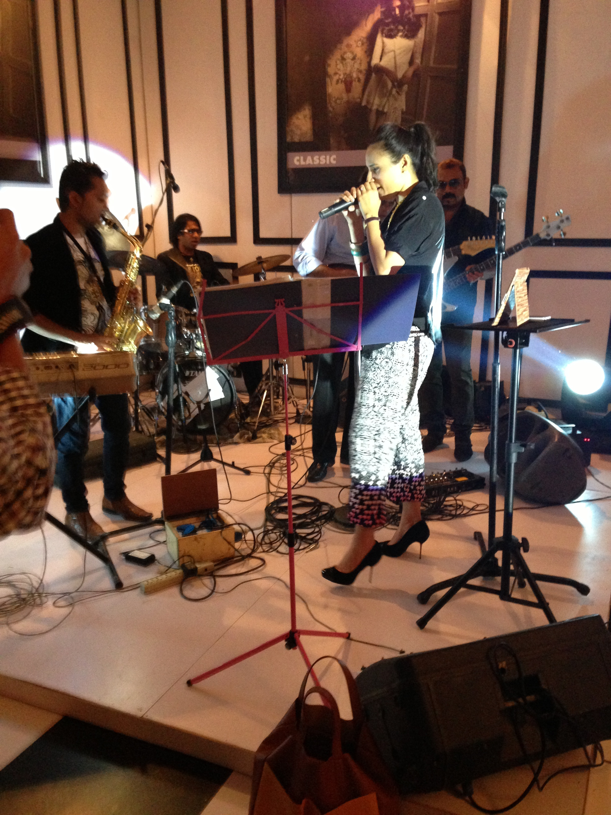 Zoe Viccaji and the band