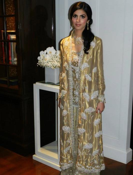 Anushka Lakhani wows in a gold Bunto Kazmi bridal, makeup by  Natasha Khalid