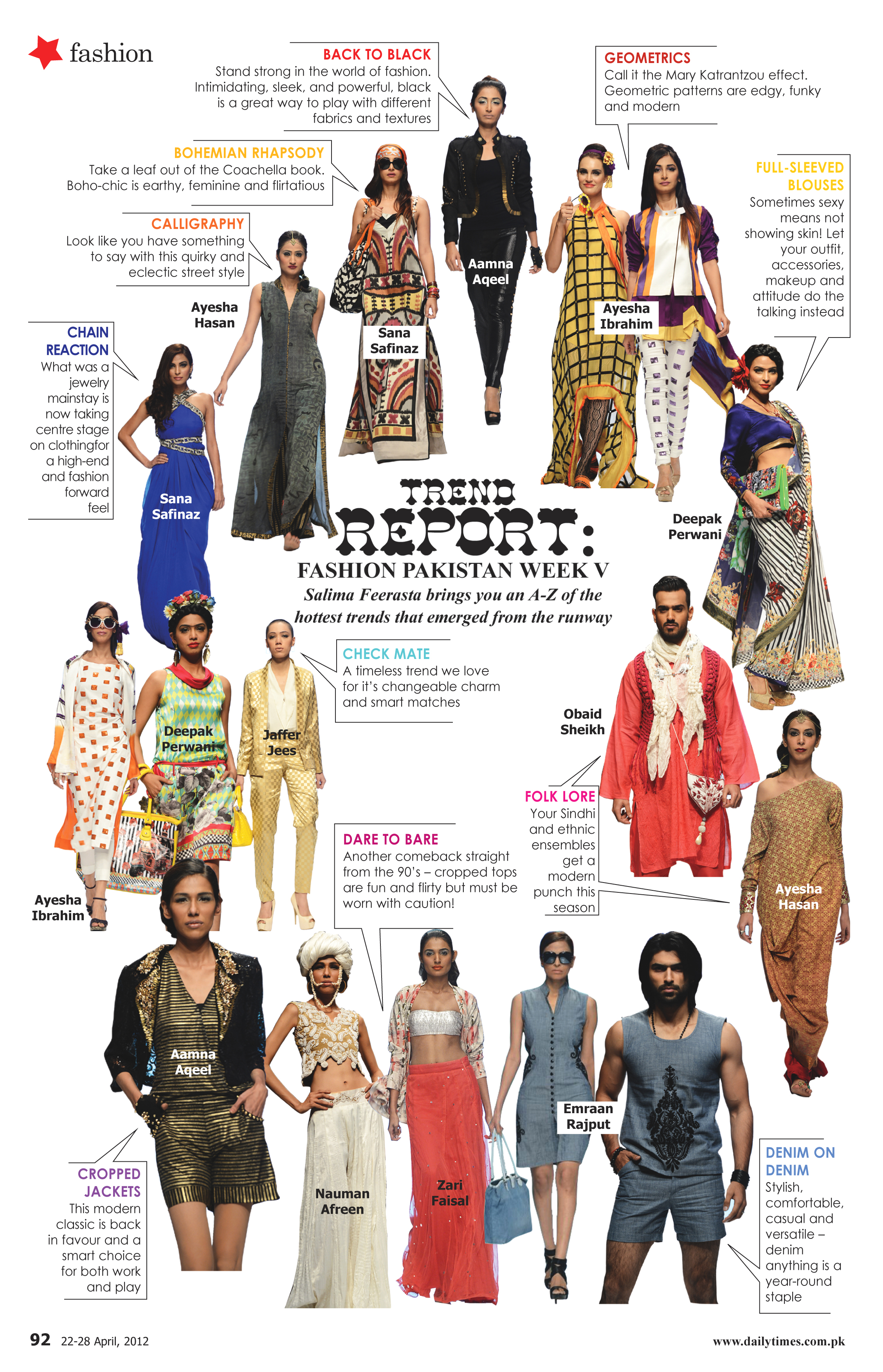 We Love Sunday Magazine S Trend Report On Fashion Pakistan Week Karachi Style On Paper