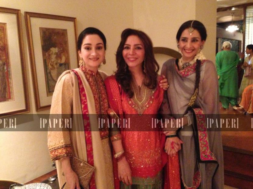 The lovely Durrani sisters, Adeela, Tehmina and Zarmina