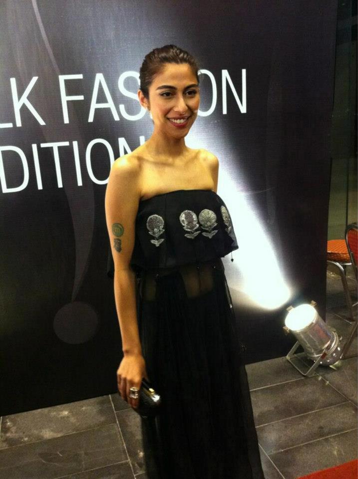 Meesha Shafi wears Mahgul for Nasreen Shaikh
