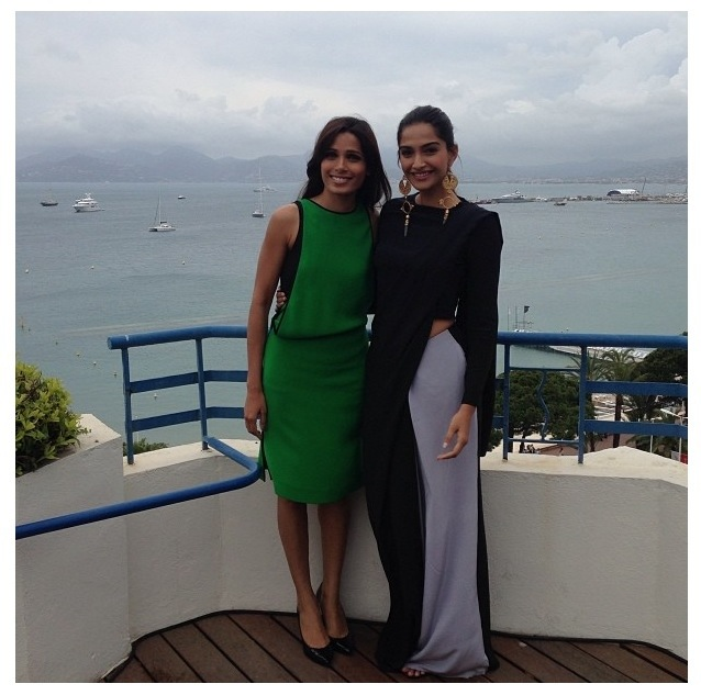 Frieda and Sonam- L'Oréal Paris ambassadors