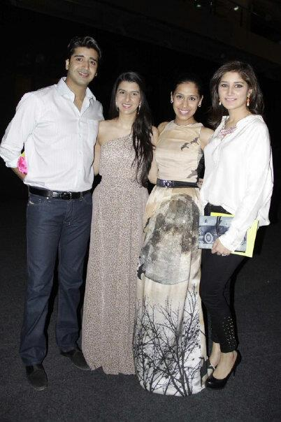 Meher Bano Qureshi (right)  seen with a Mahgul for Nasreen Shaikh clutch