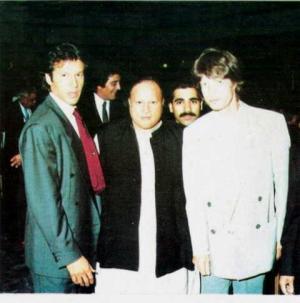 Imran Khan Nusrat Fateh Ali and Mick Jagger