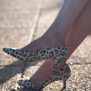 Pointed toe leopard pumps by Seychelles