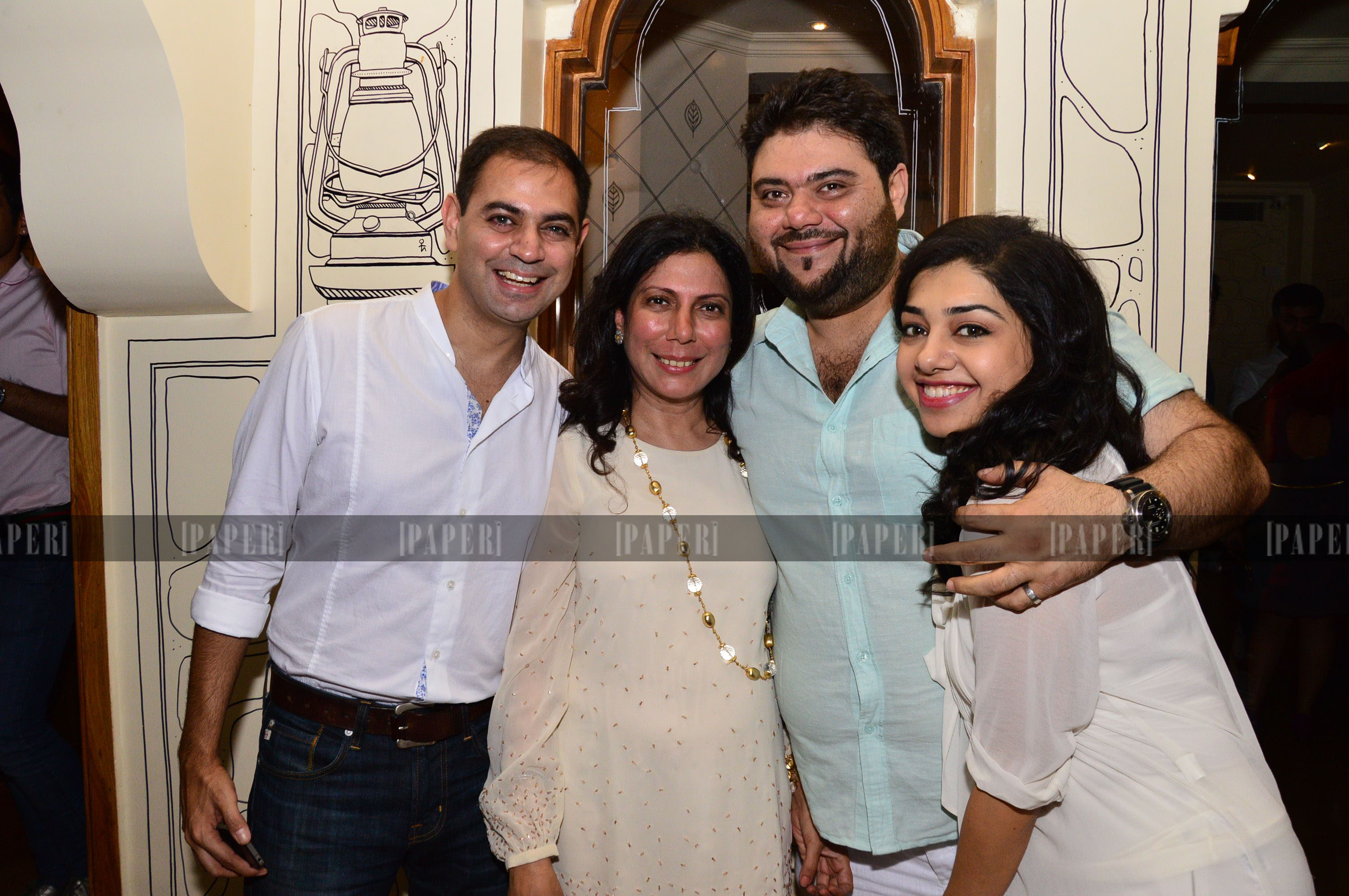 Riyaaz and Kiran Amlani with Harmeet and Sid Mathur