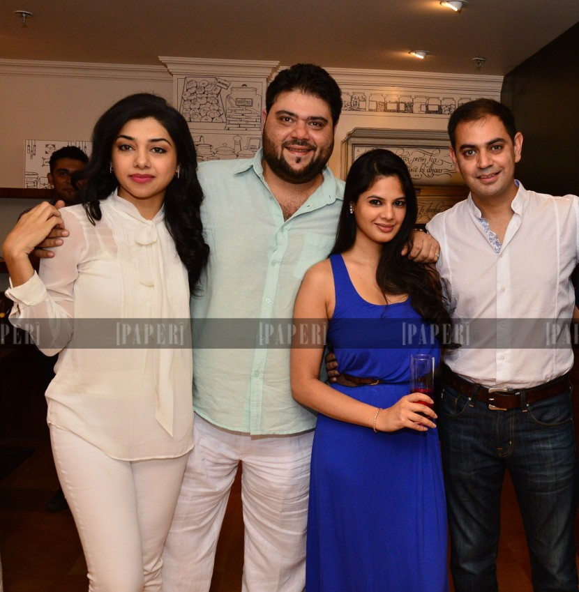 Riyaaz and Kiran Amlani with Sid and Batasha Mathur