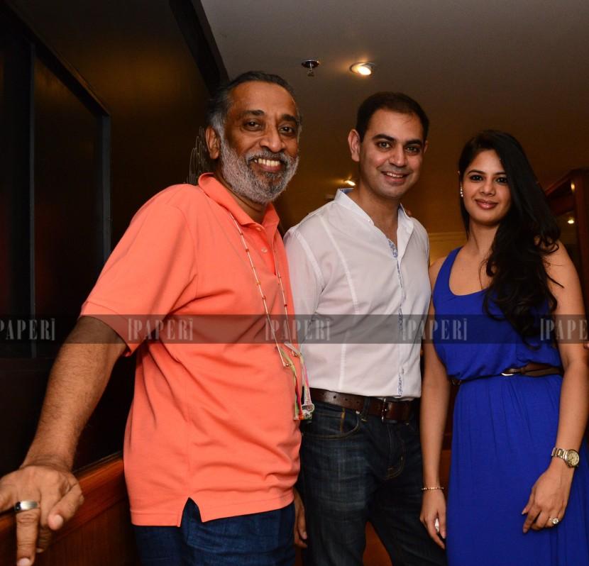 Sid and Batasha Mathur with Dilip Cherian